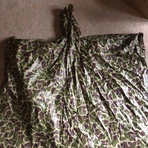 Camouflage giraffe/animal print rain poncho